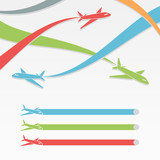 Background with colorful airplanes.