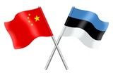 Flags: China and Estonia