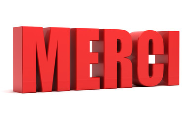 Merci 3d text