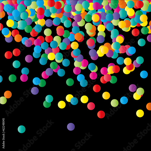 Paper Confetti Color Background.
