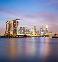 Singapore city downtown