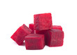Beetroot cube slice