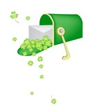 A Letter and Four Leaf Clovers in Mailbox