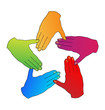 Hands diversity people logo vector