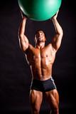 young bodybuilder posing