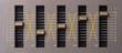 Sound equalizer five channels in natural light - 62249844