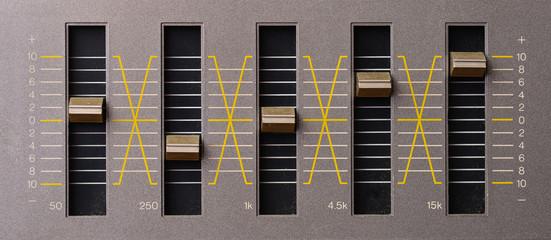 Sound equalizer five channels in natural light