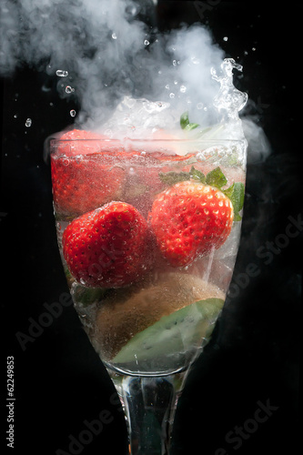 Fruit cocktail explosion