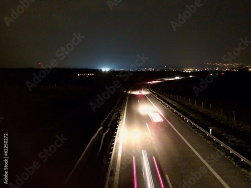 Night on highway