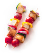 Delicious grilled smoked Tofu and vegetable kebabs