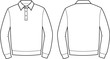 Vector illustration of men's polo jumper