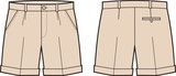 Vector illustration of men's shorts
