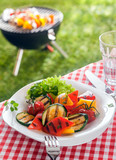 Delicious healthy plate of roasted vegetables, veggie