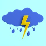 realistic 3d render of weather icon
