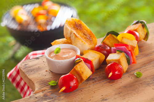 Healthy picnic lunch at a summer barbecue