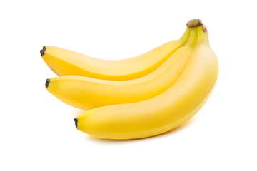 Close-up of three yellow bananas