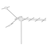cartoon image of tv antenne