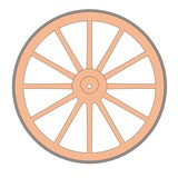 cartoon image of blacksmith wheel