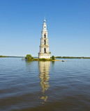 Submerged church, Russia