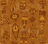Tribal Mask Seamless Texture