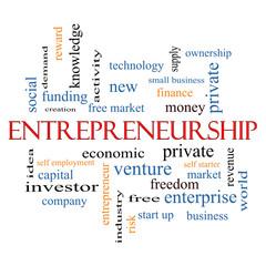 Entrepreneurship Word Cloud Concept