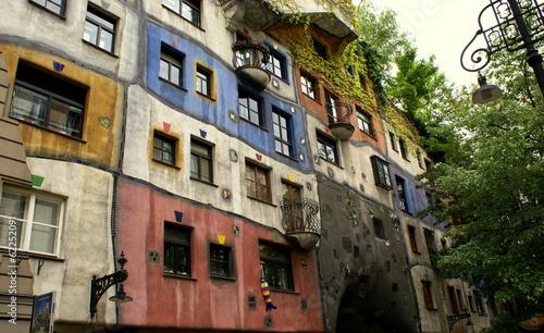 Fotobehang Wenen Hundertwasserhaus in Vienna
