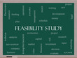 Feasibility Study Word Cloud Concept on a Blackboard