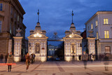 Gate to the University of Warsaw at Night