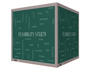Feasibility Study Word Cloud Concept on a 3D cube Blackboard