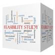 Feasibility Study 3D cube Word Cloud Concept