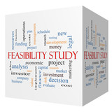 Feasibility Study 3D cube Word Cloud Concept
