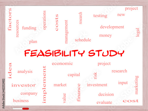 Feasibility Study Word Cloud Concept on a Whiteboard