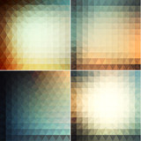 Smooth triangular backgrounds set