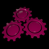 Gear Wheel - Pink & Black
