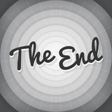 The end typography BW old movie screen