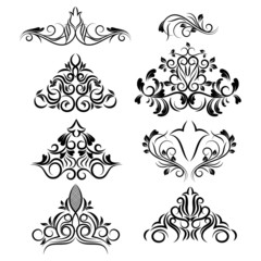vector design elements. floral patterns