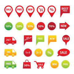Sale icon set