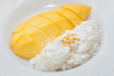 Mango with sticky rice dessert