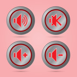 Red color sound button