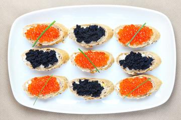 Caviar plate