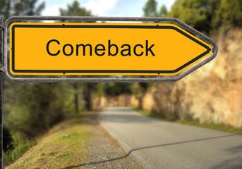 Strassenschild 15 - Comeback