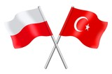 Flags: Poland and Turkey