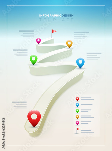 Road Infographic Design Template
