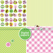Paris - Set of cute seamless patterns