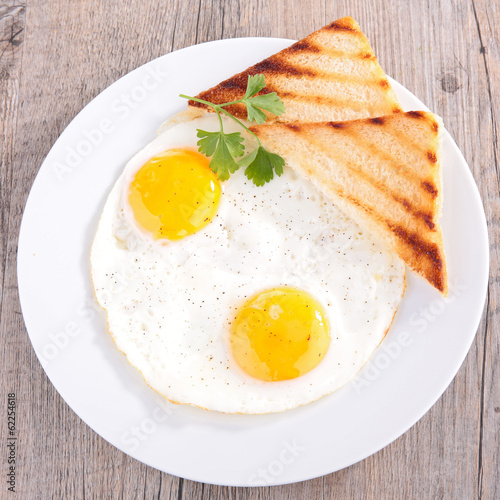 fried egg and toast