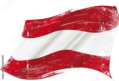 Austrian grunge flag