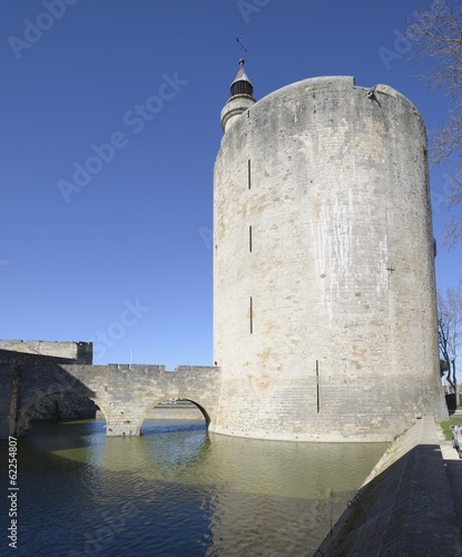 Tower and bridge, Aigues Mortes, southern France.