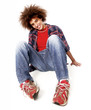 Retrato de un joven cabello afro.