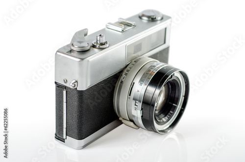 Retro photo camera  ,Selective focus  :Clipping path included