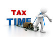 Man pull money.(tax time concept)